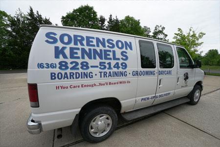 Sorenson Kennels Pet Pick-up & Delivery Van