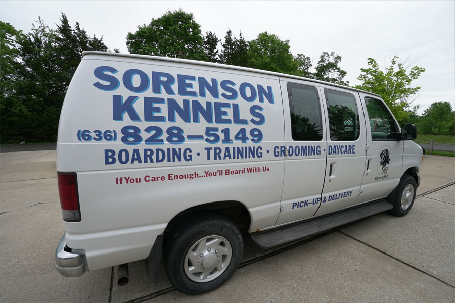 Sorenson Kennels Dog Pick-up & Delivery Van