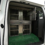 Sorenson Kennels Interiory of Delivery Van